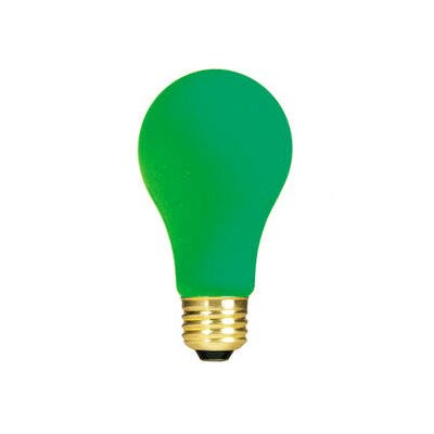 Bulbrite Industries 60W Ceramic A19 Incandescent Bulb in Green