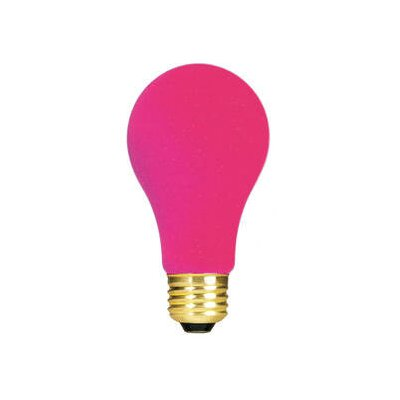 Bulbrite Industries 60W Ceramic A19 Incandescent Bulb in Pink