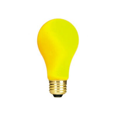 Bulbrite Industries 60W Ceramic A19 Incandescent Bulb in Yellow