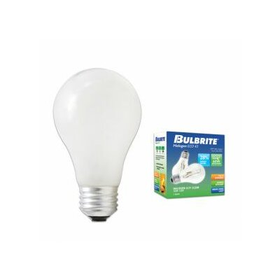 Bulbrite Industries 53W A19 Halogen Bulb in Soft White (Pack of 2)