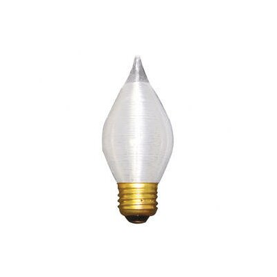 Bulbrite Industries 25W Spunlite C15 Chandelier Bulb in Satin