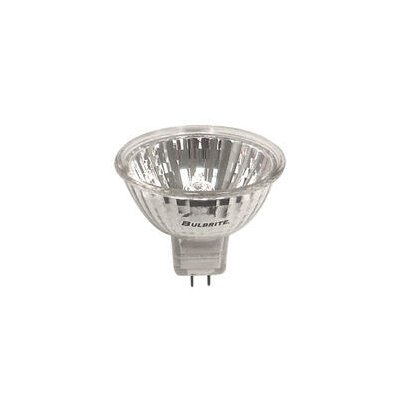 Bulbrite Industries 50W Bi-Pin MR16 Halogen Long Life Lensed Narrow Flood Bulb in Clear