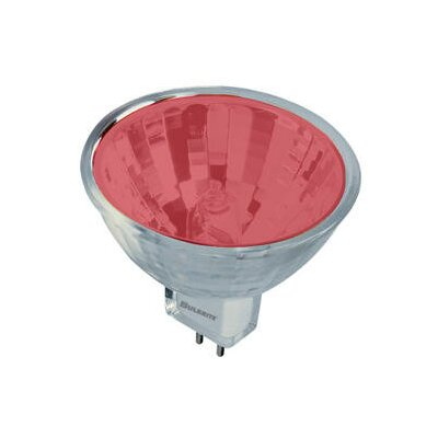 Bulbrite Industries Bi-Pin Red 12-Volt Halogen Light Bulb
