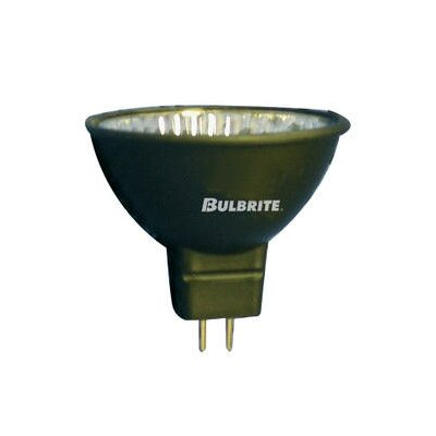 Bulbrite Industries 50W Aluminized Coat Bi-Pin MR16 Halogen Flood Bulb in Black