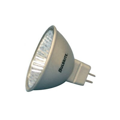 Bulbrite Industries 50W Lensed Bi-Pin MR16 Halogen Flood Bulb in Silver