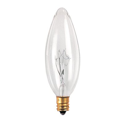 Bulbrite Industries 25mm 25W Incandescent Torpedo Chandelier Bulb in Clear