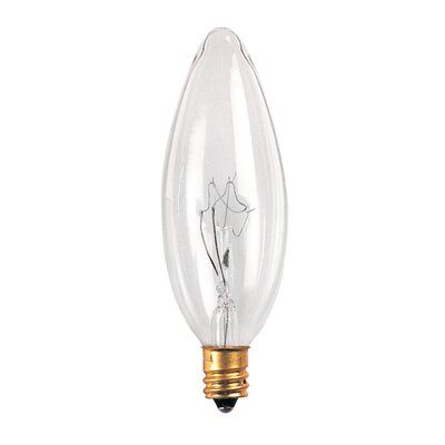 Bulbrite Industries 25W Incandescent Torpedo Chandelier Bulb in Clear