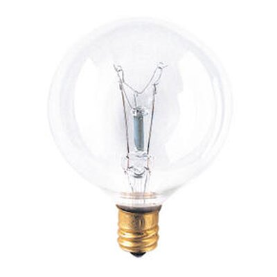 Bulbrite Industries G16 Globe Candelabra Light Incandescent Bulb