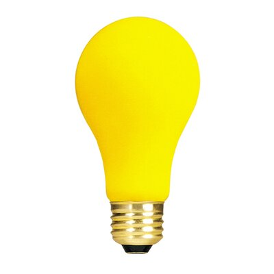 Bulbrite Industries 60W Long Life Standard Incandescent Bug Light in Yellow
