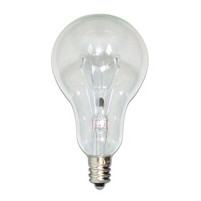 Bulbrite Industries 60W Incandescent A15 with Candelabra E12 Base Fan Bulb in Clear