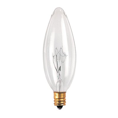 Bulbrite Industries 32mm 60W Incandescent Torpedo Chandelier Bulb in Clear