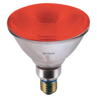 Bulbrite Industries 90W PAR38 Halogen Bulb in Red