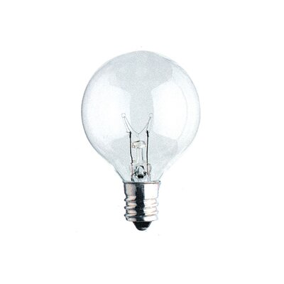 Bulbrite Industries Candelabra Base Krystal Touch G16 Globe Chandelier Bulb