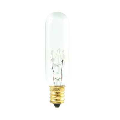 Bulbrite Industries T6 Tubular Candelabra E12 Base Incandescent Bulb