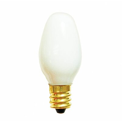 Bulbrite Industries 7W C7 Christmas Light in White