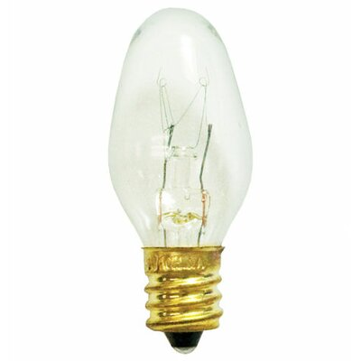 Bulbrite Industries 7W C7 Christmas Light in Clear