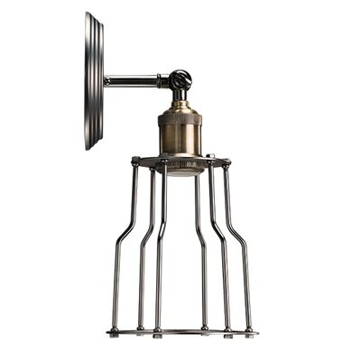 Bulbrite Industries Nostalgic Vintage 1-Light Wall Sconce with Industrial Cage