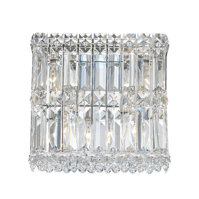 Schonbek Quantum Four Light Wall Sconce in Polished Silver