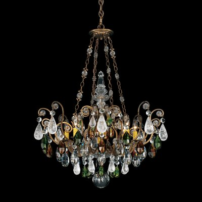 Renaissance Rock Crystal 8 Light Chandelier