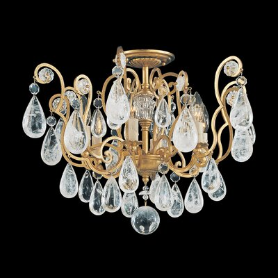 Schonbek Versailles Rock Crystal 6 Light Semi Flush Mount