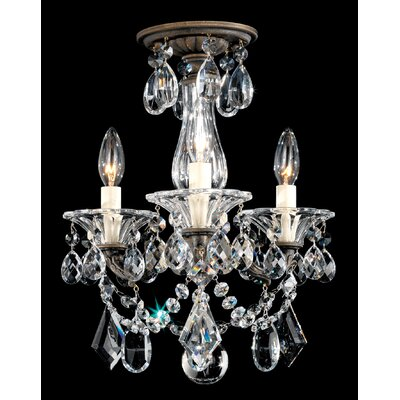 Schonbek La Scala 3 Light Convertible Chandelier
