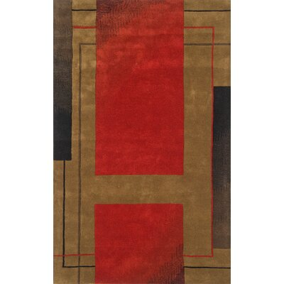 Continental Rug Company Edge Dark Red Rug