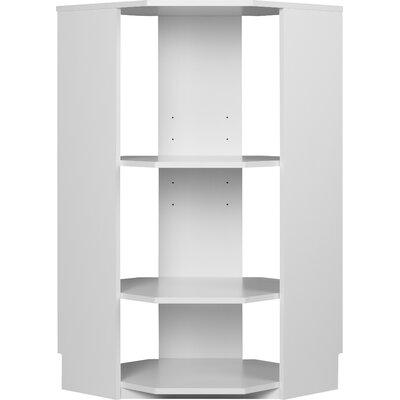 """Ameriwood Industries System Build Half Corner 41.31"""" H 4 Shelf Shelving Unit"""