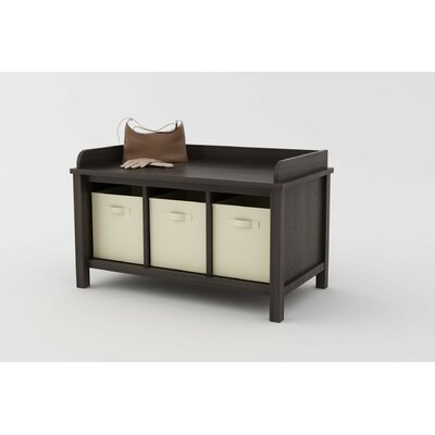 Ameriwood Industries Wood Storage Entryway Bench