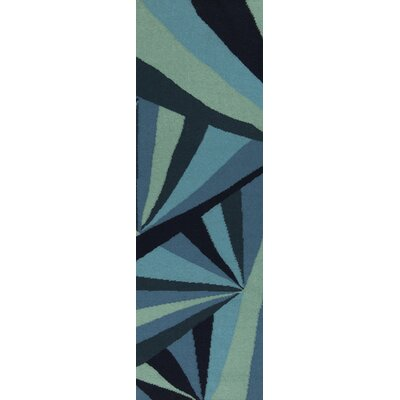 Malene b Voyages Midnight Blue/Malachite Green  Rug