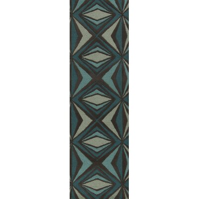 Malene b Destinations Charcoal Gray/Malachite Blue Rug