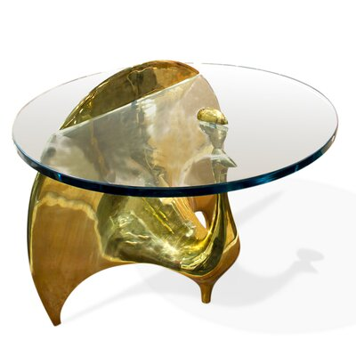 Jonathan Adler Brass Peacock Coffee Table