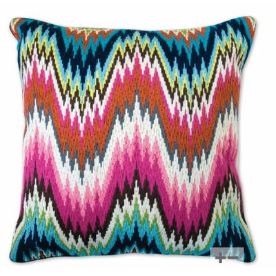 Jonathan Adler Bargello Worth Avenue Wool Pillow