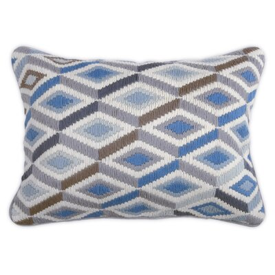 Jonathan Adler Bargello Diamonds Wool Pillow