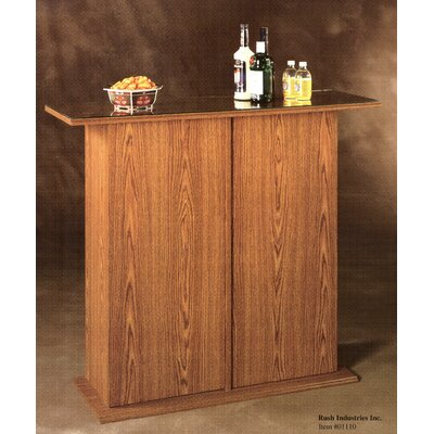 Rush Furniture Americus Oak Glass - Top Bar