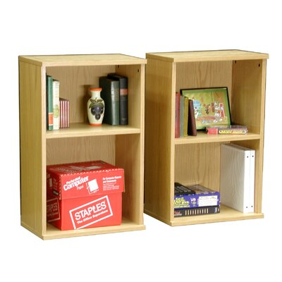 "Rush Furniture Heirloom 30"" H Twin Bookcase Set in Oak Veneer"
