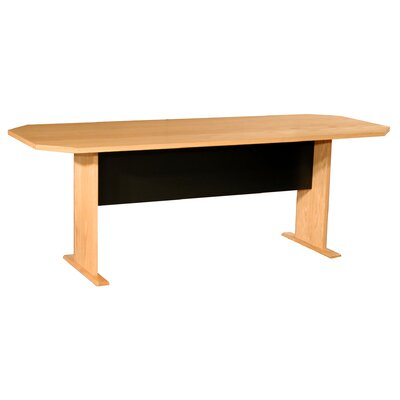 Modular Real Oak Wood Veneer Panel Conference Table