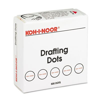 Koh-I-Noor Adhesive Drafting Dots with Dispenser, 500/Box