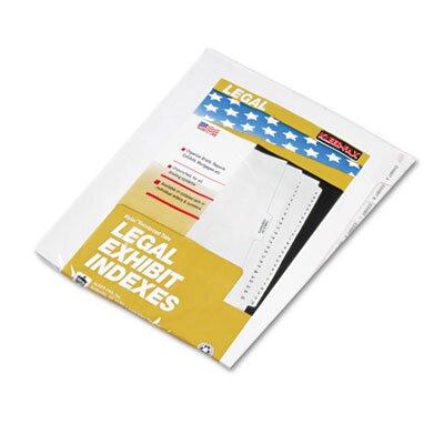 """Kleer-Fax, Inc. 80000 Series Side Tab Legal Index Divider Set, Printed """"Exhibit 1""""- """"Exhibit 20"""""""
