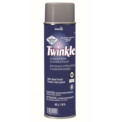 Twinkle® Stainless Steel Cleaner and Polish Lemon Scent Liquid Aerosol Can (12 Pack)