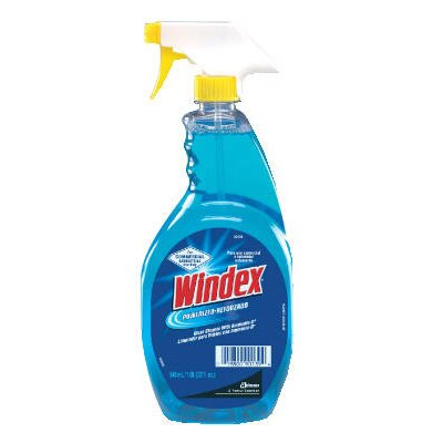 Windex® Powerized Formula Glass Cleaner with Liquid Trigger Spray Bottle