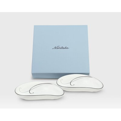 Noritake Platinum Teardrop Small Dish(Set of 2)