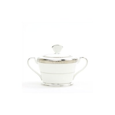 Noritake Chatelaine Platinum 12 oz. Sugar Bowl with Cover