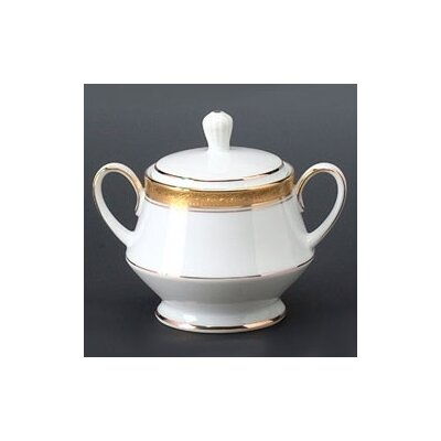 Noritake Crestwood Gold 10 oz. Sugar Bowl with Cover