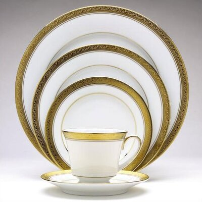 Noritake Crestwood Gold 50 Piece Dinnerware Set