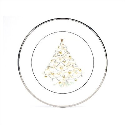 "Noritake Palace Christmas Platinum 8.5"" Holiday Accent Plate"