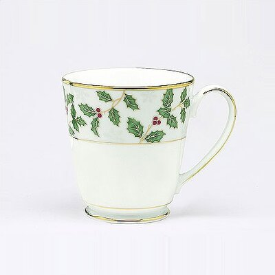 Noritake Holly and Berry Gold 12 oz. Mug