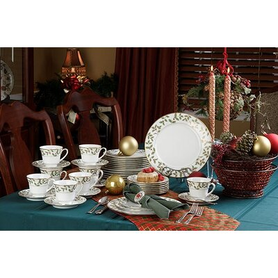 Noritake Holly and Berry Gold Dinnerware Set