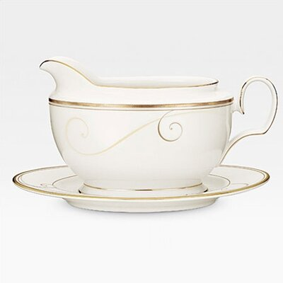 Noritake Golden Wave 18 oz. Gravy Boat with Tray