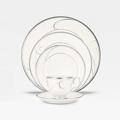 Platinum Wave 5 Piece Place Setting