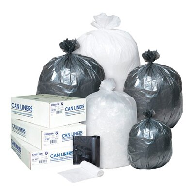 Inteplast Group 55 Gallon High Density Can Liner, 14 Micron in Clear